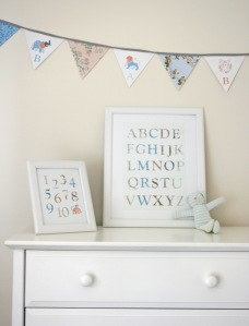 Vintage Floral Alphabet and Number posters