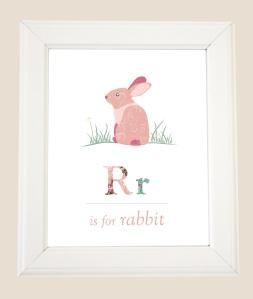 R is for rabbit framed