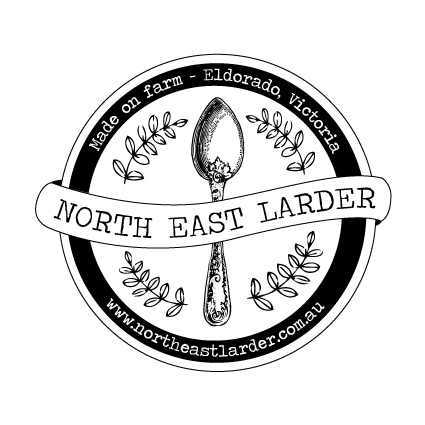 Logo Design for North East Larder, who make jams, preserves & sauces using locally sourced ingredients.