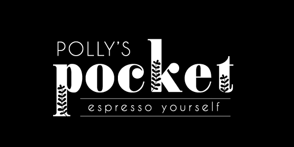 """Logo Design for parkside coffee shop """"Polly's Pocket."""""""