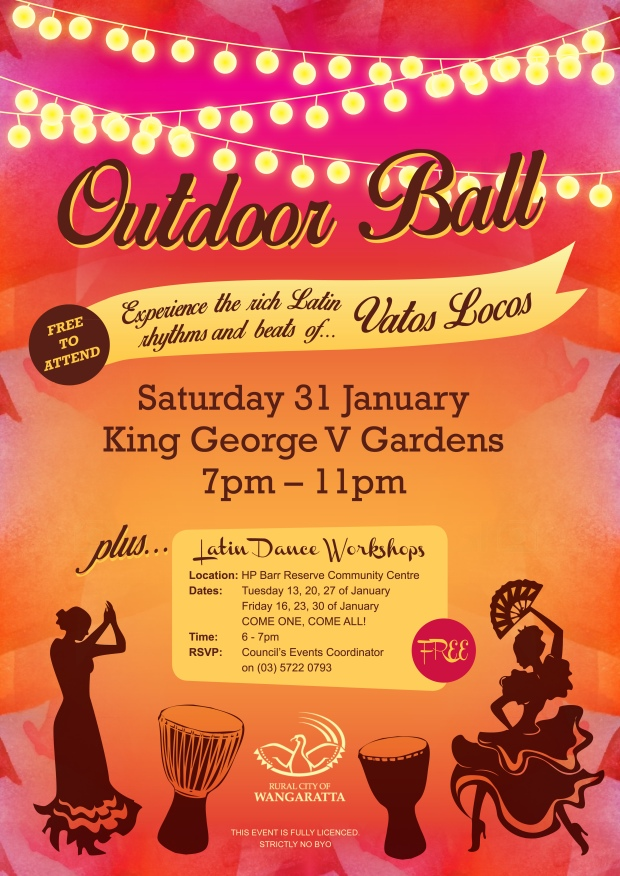"""Event Poster Design for """"Outdoor Ball"""""""
