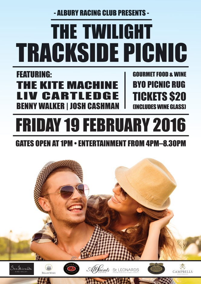 "Event Poster Design for Albury Racing Club's ""Twilight Picnic."""